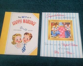 Vintage Happy Anniversary cards ( unused )