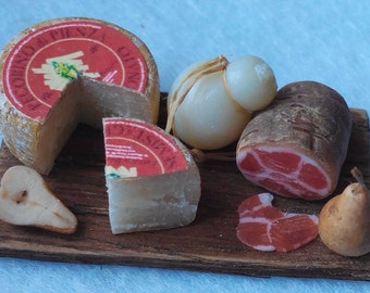 Salami and cheese platter