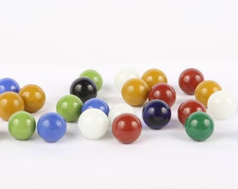 Vintage Mid century or Older (24) Solid Unusual Colored Marbles, Excellent VTG Cond.