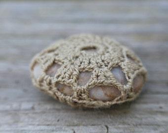 Tiny Crochet Stone // Handmade // Free Shipping