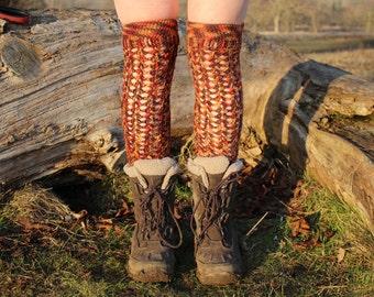 Crochet thigh highs //  crochet stockings