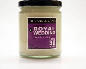 Royal Wedding 8 Ounce Scented Soy Wax Candle