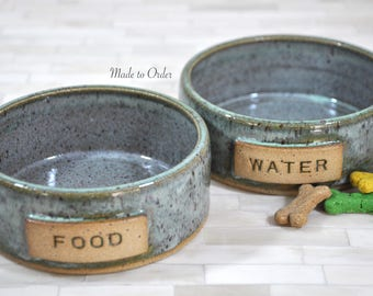 Pet Bowls, Pottery Pet Bowls, Dog Bowls, Cat Bowls, Food and Water Bowls, Small, Handmade Pottery, Wheel Thrown Pottery, Made to Order, Pet