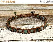 SUMMER SALE Moss Agate Bracelet / Healing Bracelet / Yoga Bracelet / Crystal Healing Bracelet