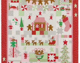 """Sugar Plum Digital Quilt Top by Bunny Hill Designs for Moda Top Measures 58.5"""" x 66.5"""""""