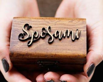 Ring box, gift box, rustic, rustic proposal box, proposal ring box, marry me, italian proposal box, sposami