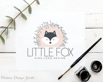 Pre-made Logo, Fox Logo Design for your Business, Premade Kids logo, Branding and Logo for Kids Boutique (A15)