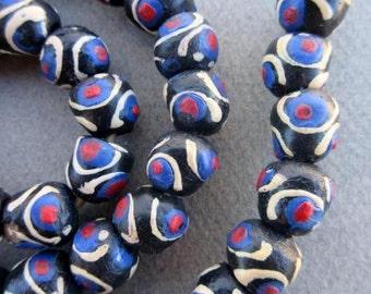 Glass Krobo Beads (12x11mm) [65946]