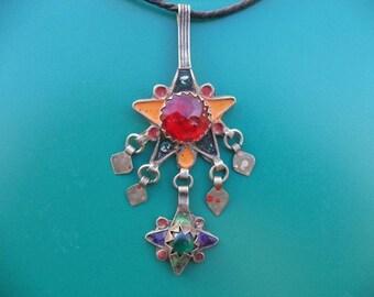 Morocco Maroc Marocco Antique berber silver pendant jewelry necklace