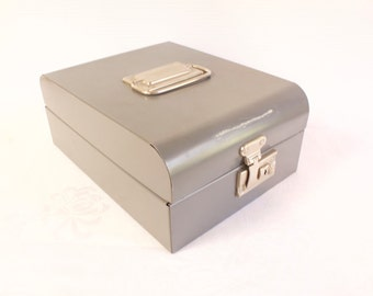 Vintage Industrial Metal File Box by Challenger