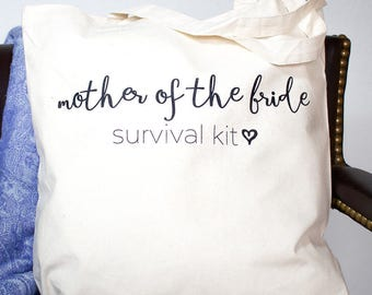 Mother of the Bride or Mother of the Groom Survival Kit Tote Bag | Mother of Bride Tote | Mother of Groom Tote | Wedding Day Survival Kit