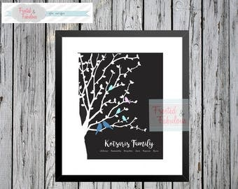Family Tree Print (customizable!)