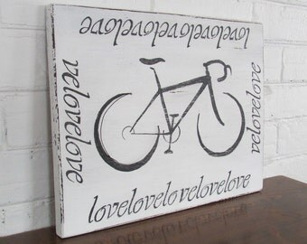 Velo Love hand painted sign