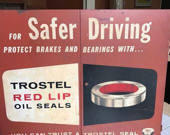 Trostel RED lip oil seal metal cabinet