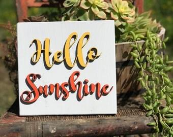 Hello Sunshine/Wood Wall/Wall Decor/Lasercut