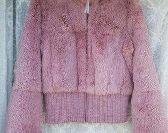 90s Pink Fur Jacket