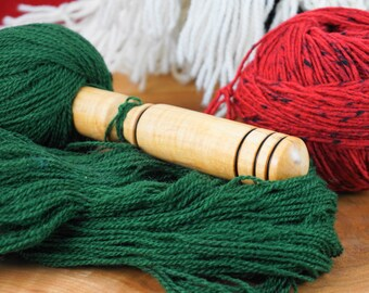 Traditional Nostepinne Yarn Winder, Center Pull Yarn Ball Winder, Nest Stick, Frizz-Free Winder    Traditional Christmas Gift, Unique Gift