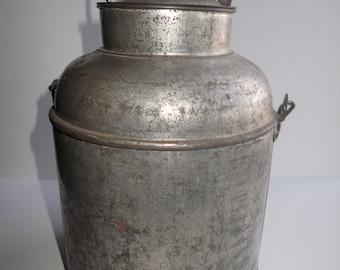 Galvanized Dairy Milk Pail/Cream Can Vintage