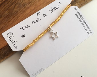 Kids inspirational jewelery, party bag filler, I love you, you are a star, back to school, daughter, sister, best friend, teen, heart, luck