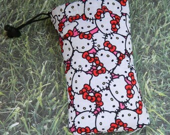 Hello Kitty Padded Pipe Bag, Sunglasses Case, Ipod Pouch drawstring Bag