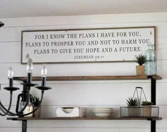 Jeremiah 29 11 Wall Art wooden sign jeremiah 29 11 | etsy