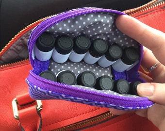 Essential Oil Case, Essential Oil Bag, Oil Travel Bag, Oil organizer, Oil Kit, Oil carrying case, MICRO for 5/8 drams Custom Order