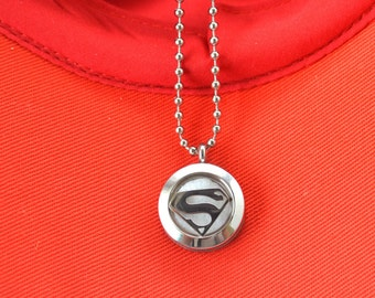 Alicia Custom - Superhero Stainless Steel Necklace, Diffuser Necklace, Aromatherapy Necklace, Boys Necklace, Girls Necklace, Kids necklace