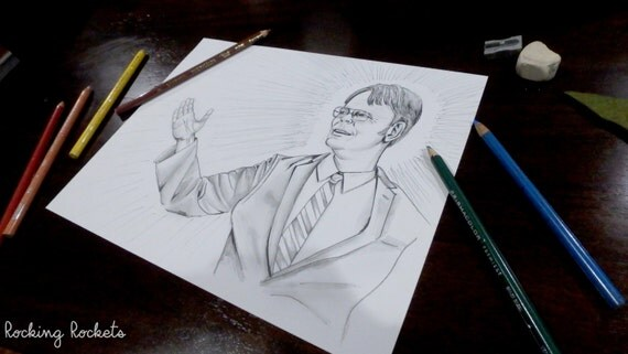Items Similar To The Office Dwight Schrute Adult Coloring