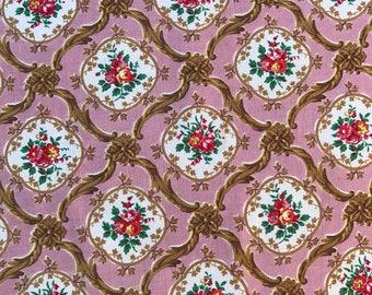 Vintage Pretty Floral Cotton Fabric 81cm x 180cm