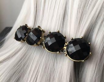 Alternative WeddingBridal Headpiece Hair Clips Women - 80mm Black Hair Accessories or Bridal Hair Clip Barrettes - Hair Clip For Women