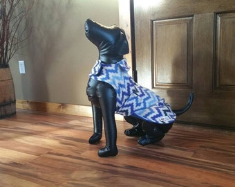 IN STOCK -Medium Snowflake Zig Zag- Hand made dog jacket