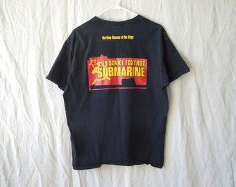 00s/90s Soviet Submarine Museum Hammer and Sickle T-Shirt