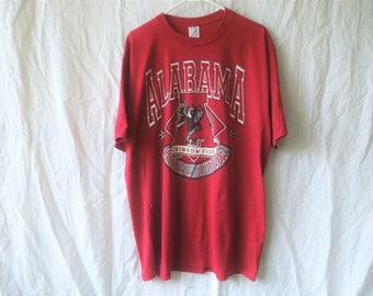 90s Alabama Crimson Tide University of Alabama Football T-Shirt