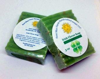 Irish Clover Field Soap - Clover Soap - Irish Clover Soap - Handcrafted Clover Soap - Irish Soap - Green Clover Soap - Vegan Clover Soap