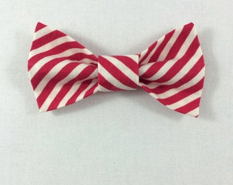 Red Striped Cat Bow tie, Cat tie, Cat Bow tie collar