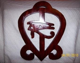 Adinkra Symbol. Love Sees All.  Egyptian and Adinkra Combination