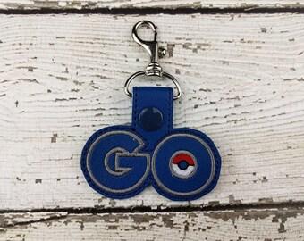 GO Keychain - Bag Tag - Zipper Pull - Bag Accessory - Small Gift
