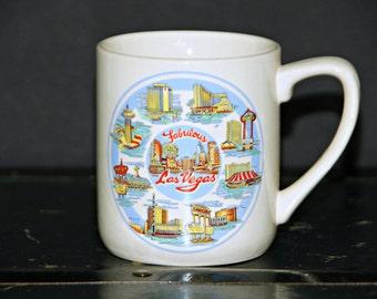 Fabulous Las Vegas Mug, Gambling, Casino, Golden Nugget, Caesars Palace, Stardust, Dunes, Skyline, Memorabilia, Tourist, Coffee, Tea, Kitsch