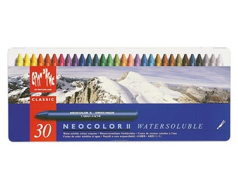 Neocolor II - Caran D'Ache Neocolor II Watersoluble Wax Pastel Tins - Tin of 30Assorted Colors