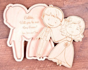 Will you be our ring bearer Gift Card Ring Bearer puzzle Invitation Ring Security Asking Ring Boy Proposal Personalized Bridal Party Gifts