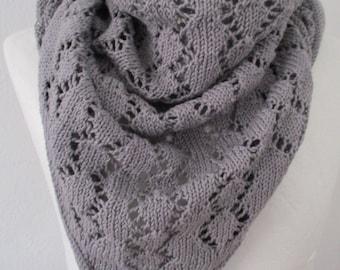 Shawl cotton grey