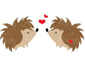 Hedgehog - Love - Heart - Decal - SVG - Cut file - Silhouette - Cricut - Digital Download