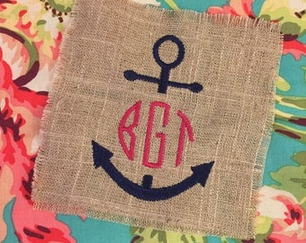 Anchor Monogram Comfort Colors Shirt