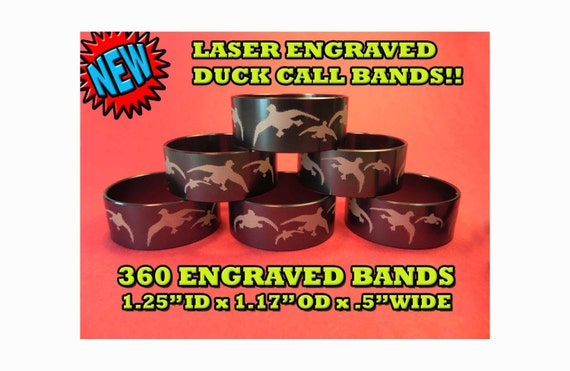 Aluminum Laser Engraved Duck Call Band New With 360 Laser