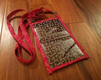 Black and Red Candy Cane Pocket Purse