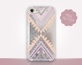Tribal Glitter Phone Case Clear Case For iPhone 8 iPhone 8 Plus - iPhone X - iPhone 7 Plus - iPhone 6 - iPhone 6S - iPhone SE  iPhone 5