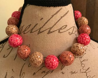 Chunk bauble necklace
