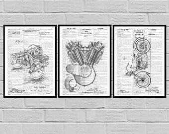 Harley Davidson Poster - motorcycle prints - Harley Poster - Harley Davidson Motorcycle - Harley Engine - Harley - Motorcycle