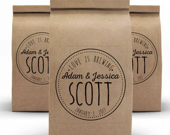 Candy Favor Bags, Kraft Bags, Rustic Wedding, Wedding Favors, Cookie Favor Bags, Popcorn Favor Bags, Doughnut Bags, Lined Bags, Tin TIe Bags