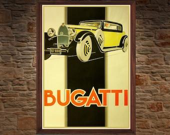 Bugatti , Pinnacle of Class ( vintage art print )